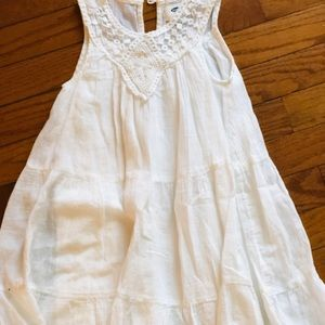 Old Navy white Sleeveless Cotton Dress Girls Sz 5T